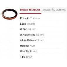 RETENTOR MANCAL TRASEIRO SABÓ   (147 1976 EM DIANTE)  (FIORINO 1976 EM DIANTE)  (PALIO/  ) )  (TIPO  ) )  (UNO  ) )