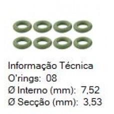 KIT/REPARO ANEL BICO FILTRO INJETOR (GROSSO) (MAGNETTI/BOSCH/ROCHESTER) DS (KIT C/ 8 ANEIS)  (CORSA 1996 EM DIANTE)  (UNIVERSAL  ) )