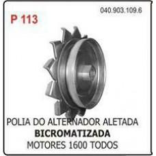 POLIA ALTERNADOR/ALETADA (BICROMATIZADA) POLIAUTO   (BRASILIA  ) )  (FUSCA  ) )  (GOL/  ) )  (KOMBI  ) )  (SAVEIRO  ) )  (TC  ) )  (TL  ) )  (VARIANT  ) )