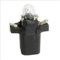 LAMPADA BASE PLASTICA (PRETO 12V/1.2W) GB   (CORSA  ) )  (D20  ) )  (GOL/  ) )  (OMEGA  ) )  (UNO  ) )  (VECTRA  ) )  (VW CAMINHOES/ONIBUS  ) )