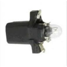 LAMPADA BASE PLASTICA (PRETO 12V/1.2W) DIVERSO   (GOL/  ) )  (UNIVERSAL  ) )
