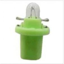 LAMPADA BASE PLASTICA (VERDE CLARO 12V/2W) GB   (CELTA  ) )  (CORSA  ) )  (D20  ) )  (GOL/  ) )  (IPANEMA  ) )  (KADETT  ) )  (TROLLER  ) )  (UNO  ) )