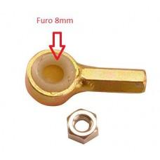 ADAPTADOR/PONTA ALAVANCA CABO ENGATE COMANDO (8mm) KIT CIA (Furo 8mm)  (PALIO 1996 EM DIANTE)  (SIENA 2000  ATÉ 2001)