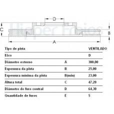 DISCO FREIO DIANTEIRO FREMAX   (HONDA CRV 2005  ATÉ 2006) (NEW CIVIC 2006  ATÉ 2012)