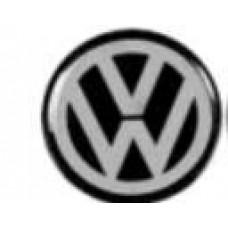 ADESIVO/EMBLEMA CALOTA VW PRETO PEQUENO RESINEW PEQUENO  (UNIVERSAL  ) )