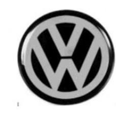 ADESIVO/EMBLEMA CALOTA VW PRETO GRANDE RESINEW   (UNIVERSAL  ) )