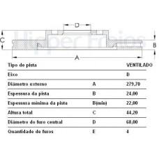 PAR DE DISCO FREIO DIANTEIRO (SEM CUBO) HIPERFREIOS   (SENTRA 2007 EM DIANTE)  (VERSA 2007 EM DIANTE)