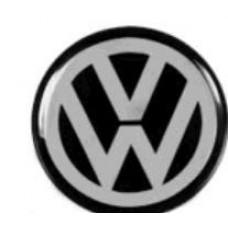 ADESIVO/EMBLEMA CALOTA VW PRETO MEDIO RESINEW MEDIO  (UNIVERSAL  ) )