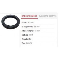 RETENTOR COMANDO E POLIA SABÓ (40X55X7MM)  (DOBLO  ) )  (PALIO/  ) )  (PICASSO 2000 EM DIANTE)