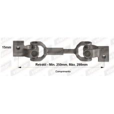 ARTICULAÇÃO COLUNA DE DIREÇÃO (Cruzeta) (MEC 300mm) VIEMAR 300mm  (COURIER 1997  ATÉ 1999) (FIESTA 1999  ATÉ 2007) (FIESTA 1996  ATÉ 1999)
