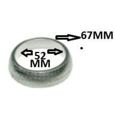 ANEL/GAXETA ESCAPAMENTO G REHDER ARTEFATOS DE BORRACHAS LTDA (MALHA ACO 51,5mm)  (CLIO ATÉ 1999) (TWINGO  ) )