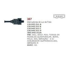 INTERRUPTOR LUZ DE FREIO (C/Acelerador Eletrônico) 3 RHO   (A3  ) )  (BORA  ) )  (FOX  ) )  (GOL/  ) )  (GOLF  ) )  (POLO  ) )