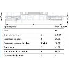 DISCO FREIO DIANTEIRO MDS   (COBALT 2012 EM DIANTE)  (ONIX 2013 EM DIANTE)  (PRISMA 2013 EM DIANTE)