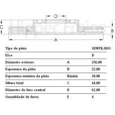 DISCO FREIO DIANTEIRO MDS   (HB20 2013 EM DIANTE)  (RIO 2011 EM DIANTE)