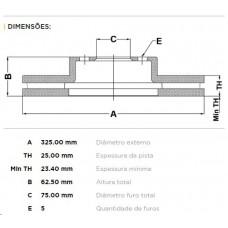 PAR DE DISCO FREIO DIANTEIRO FREMAX   (308 2007 EM DIANTE)  (X3 20i 2004 EM DIANTE)