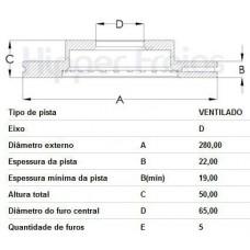 DISCO FREIO DIANTEIRO FREMAX   (A3 2004 EM DIANTE)  (JETTA 2011 EM DIANTE)