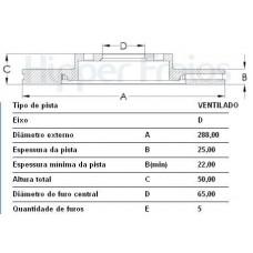 DISCO FREIO DIANTEIRO FREMAX   (AUDI A3 2003  ATÉ 2007) (GOLF 2013 EM DIANTE)  (GOLF 2003 EM DIANTE)  (JETTA/VARIANT 2007 EM DIANTE)