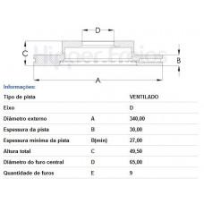 PAR DE DISCO FREIO DIANTEIRO FREMAX   (A3 2013 EM DIANTE)  (A3 SPORTBACK 2013 EM DIANTE)  (GOLF 2014 EM DIANTE)  (S3 TFSi 2013 EM DIANTE)