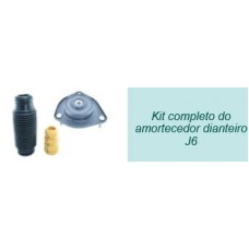 KIT AMORTECEDOR DIANTEIRO (BATENTE SUPERIOR/HASTE/COIFA) BROKITS   (J6  ) )