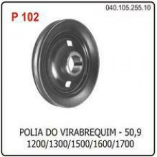 POLIA VIRABREQUIM MOTOR POLIAUTO   (BRASILIA  ) )  (FUSCA  ) )  (KOMBI  ) )  (VARIANT  ) )