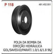 POLIA BOMBA DIRECAO HIDRAULICA POLIAUTO   (GOL/ 1996 EM DIANTE)  (PARATI 1996 EM DIANTE)  (SAVEIRO 1996 EM DIANTE)
