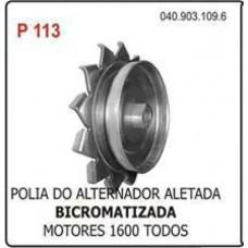 POLIA ALTERNADOR (ALETADA/PRETA) POLIAUTO   (BRASILIA  ) )  (FUSCA  ) )  (KOMBI  ) )  (VARIANT  ) )