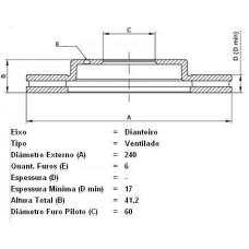 DISCO FREIO DIANTEIRO FREMAX   (CORSA/SEDAN 2002 EM DIANTE)  (MONTANA 2003 EM DIANTE)