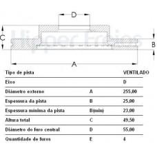 DISCO FREIO DIANTEIRO FREMAX   (COROLLA 2003  ATÉ 2007) (COROLLA 2003  ATÉ 2007) (COROLLA 2003  ATÉ 2007)