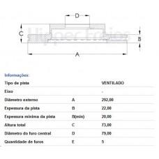 PAR DE DISCO FREIO DIANTEIRO FREMAX   (120i 09/2004 EM DIANTE)  (130i 2006 EM DIANTE)  (318i 09/2005 EM DIANTE)  (320i 2005 EM DIANTE)